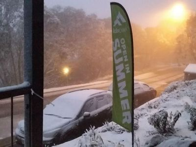 Morning snow at Falls Creek. (Photo: Narelle Clark)