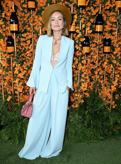Olivia Wilde arrives at the 9th Annual Veuve Clicquot Polo Classic event in Los Angeles, October 6, 2018