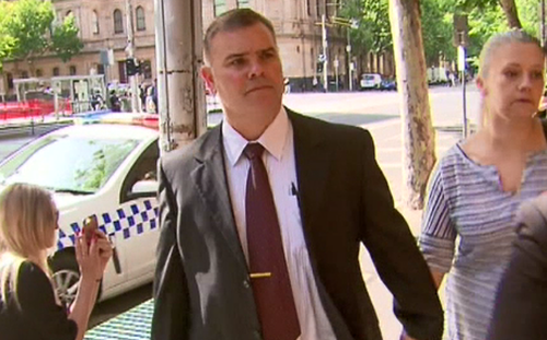 Senior Constable David Jenkin arrived at court today. (9NEWS)