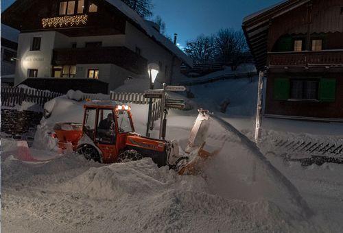 Heavy snow has fallen in St Anton am Arlberg during recent days.