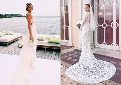 Over the weekend not one but two street style favourites tied the knot. While Helena Bordon (left) and Eleonora Carisi (right) both have an impeccable eye, when it came to getting married their looks couldn't have been more different.<br /> <br /> Bordon opted for an island wedding complete with purple orchids, palm trees and ocean views, while Italian blogger Eleonora Carisi's nuptials resembled an old-world fairytale, taking place in a 19th century villa in Milan. <br /> <br /> Click through for a glimpse of the bloggers' big days.