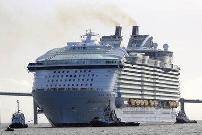 <p>The world's largest ever cruise ship, Symphony of the Seas, is nearly ready for its official maiden voyage on April 7, with Royal Caribbean putting the finishing touches on their new ocean liner before it departs from Barcelona.&nbsp;</p> <p>The new ship, which will set sail in early April,&nbsp;surpasses her sister <em>Harmony of the Seas </em>in size.&nbsp;</p>