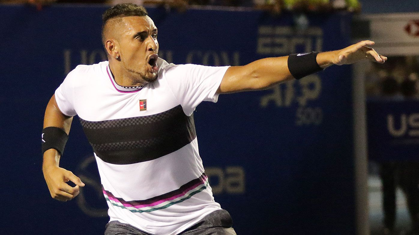 Kyrgios braves cut and cramps to down Wawrinka