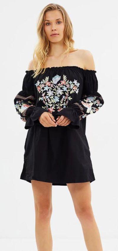 """<a href=""""https://www.theiconic.com.au/fleur-du-jour-mini-dress-522119.html"""" target=""""_blank"""">Free People Fleur Du Jour Mini Dress, $230.</a>"""
