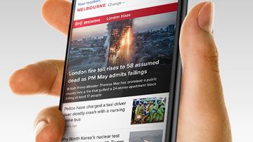 The new 9news.com.au homepage.