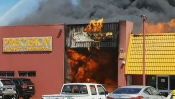 Teenager worker fighting for life after Perth auto-shop blaze