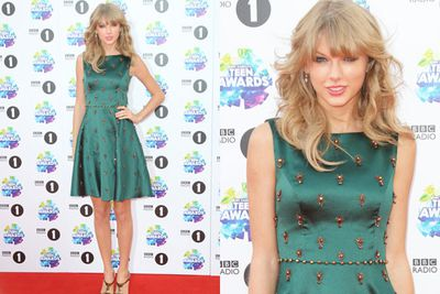 We're guessing many we're green with envy at Taytay's feminine frock.