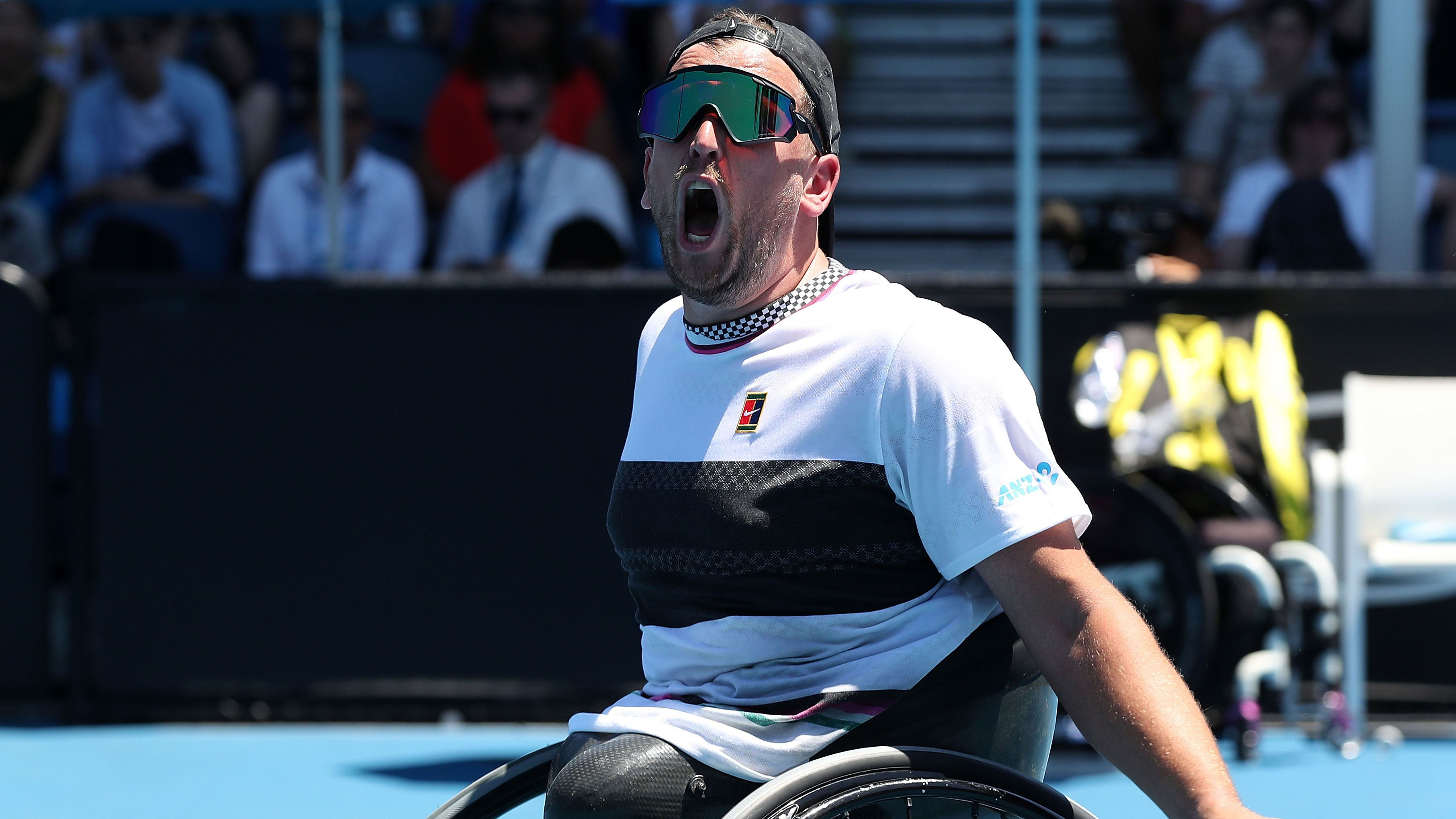 Dylan Alcott delivers inspiring message after thrilling victory in Australian Open