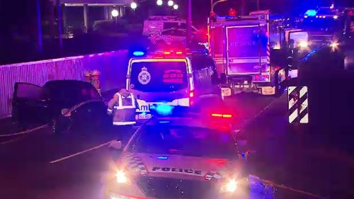 Police were called to the scene about 7.30pm Friday. (9NEWS)