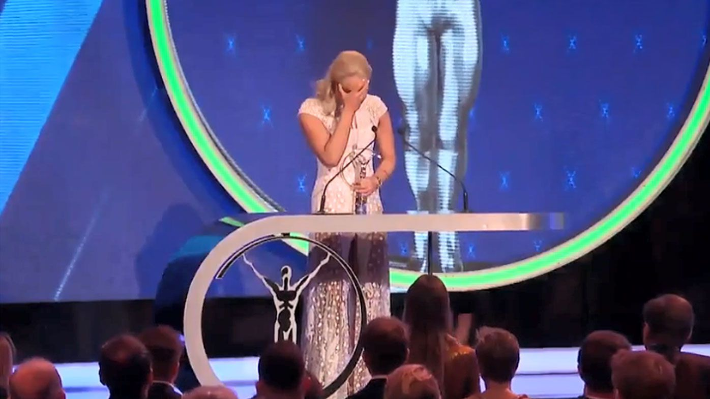 Lindsey Vonn moved to tears after receiving standing ovation at Laureus Sports Awards