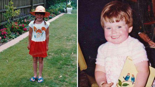 Sarah as a young child.