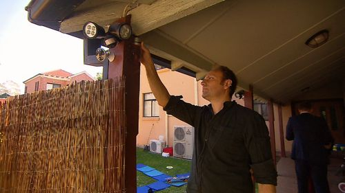 The state-of-the-art doorbell alerted Mr Baker to the unexpected arrival. (9NEWS)