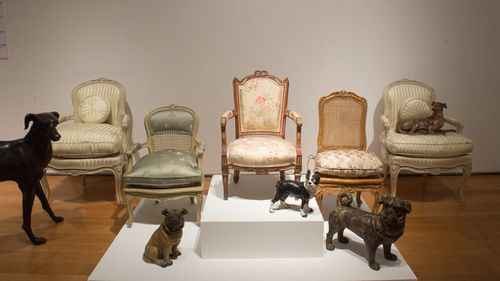 Home furnishings are on display at Christie's New York collection preview. (AFP)
