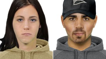 The two suspects in the rave robbery case. (Victoria Police)
