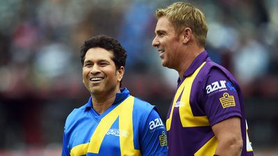 Warne and Tendulkar organised the match together. (AFP)