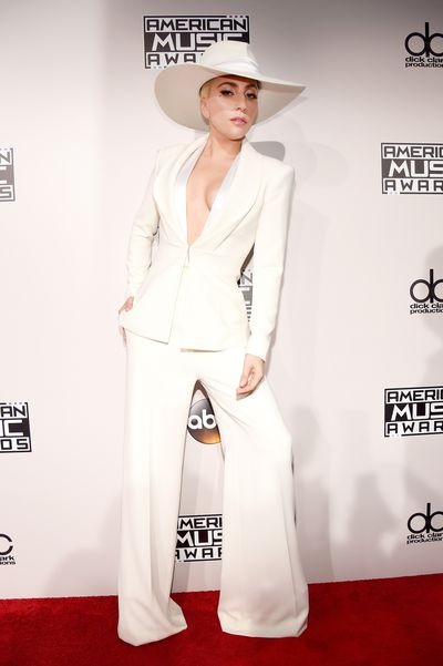 <p>Classic hit</p> <p>Lady Gaga</p> <p>It's not as shocking as a meat dress and this all-white approach is familiar for Lady Gaga but at least this interpretation by Brandon Maxwell hits the right note.</p>