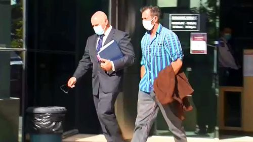 Aaron David Marriage (right) allegedly sent messages to Ms Palaszczuk's Facebook account on September 14 last year.