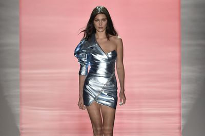 Bella Hadid leggy and lovely for Alexandre Vauthier Paris Haute Couture Spring Summer 2017.