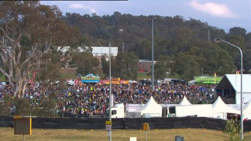128 festival-goers had their illicit drugs tested at the Groovin the Moo festival in Canberra yesterday. (9NEWS)
