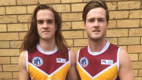 Patrick Cronin (left) was an AFL fan and popular young footballer. (AAP)