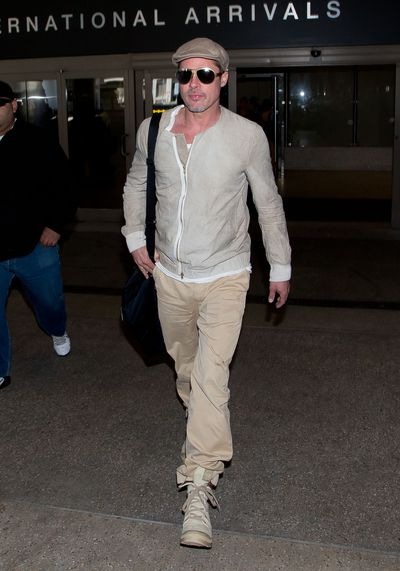 Brad Pitt seen at LAX airport on April 02, 2014