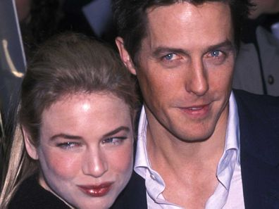 Renee Zellweger and actor Hugh Grant the 58th Annual Golden Globe Awards on January 21, 2001.