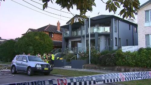 A 50-year-old man has died in hospital after his home in Sydney's inner west caught on fire overnight. Picture: 9NEWS.
