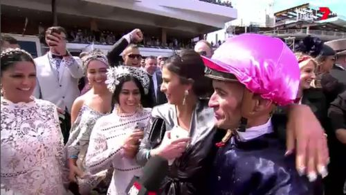 It is Brown's second Melbourne Cup win. (7 News)
