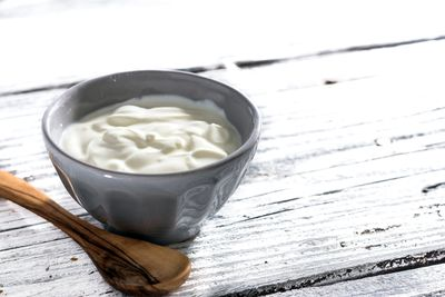 <strong>...for Greek yoghurt (95 calories).</strong>