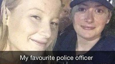 'My favourite police officer'. How many teens can say that? (Instagram: @indiannashaee)