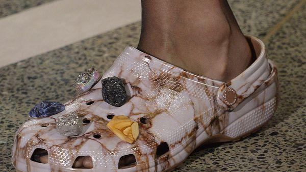 Embellished Crocs at Christopher Kane, spring/summer '17