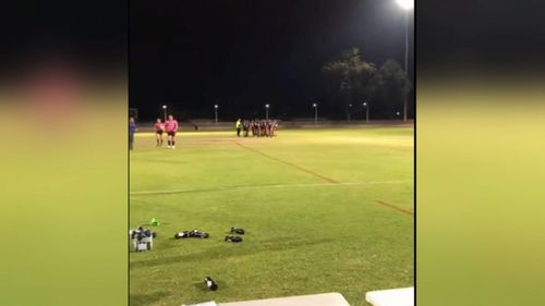 Police are investigating after a 16-year-old was stabbed in the back at a Merrylands Junior Rugby match yesterday.
