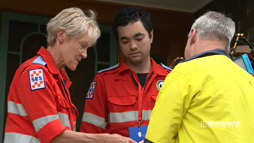 SES crews spent the day advising Canberra residents on safety precautions for their homes.