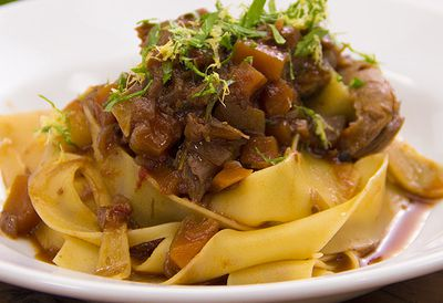 Easy lamb shank ragu with pasta