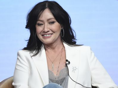 """Shannen Doherty participates in Fox's """"BH90210"""" panel at the Television Critics Association Summer Press Tour in 2019"""