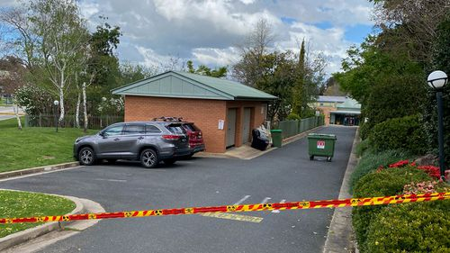 The unexploded grenade was found at Lutheran Aged Care in Yallaroo.