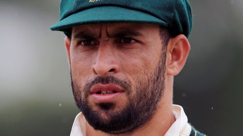 Australia's Fawad Ahmed during day two of the tour match at the 3aaa County Ground, Derby in 2015. (AAP)