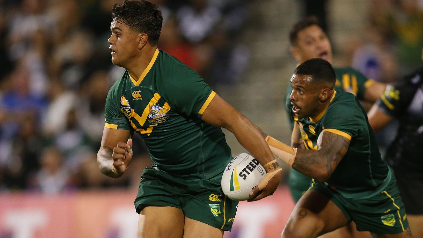 Latrell Mitchell in action for the Kangaroos.