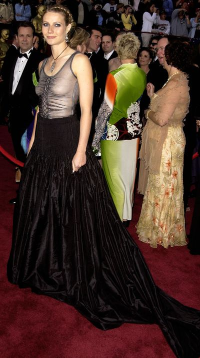 """I still love the dress itself but I should have worn a bra,"" says Gwyneth of the Alexander McQueen dress she wore to the 2002 Oscars. ""I should have just had simple beachy hair and less make-up. Then, it would have worked as I wanted it to - a little bit of punk at the Oscars."""