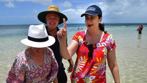 Premier Annastacia Palaszczuk visited the Great Barrier Reef. (AAP)