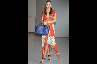 It goes against the laws of nature that Miranda Kerr can take a 12-hour flight from Sydney to Japan and arrive looking so damn flawless.<br/><br/>But does she have good genes to thank, or the $2395 Wes Gordon dress and $800 Bionda Castana heels?