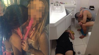 "There's a fine line between ""embarrassing"" and ""epic"". (Instagram: @ Toulasardanis) / (Schoolies Photos Best and Embarrassing 2014)"