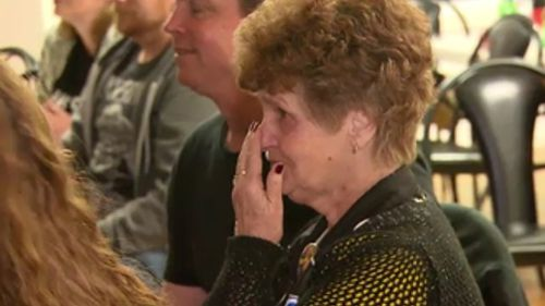 Martin's nan, Lois Knight, was bursting with pride as the Tiger champion was awarded the Brownlow Medal. (9NEWS)