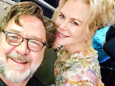 Russell Crowe and Nicole Kidman, Qantas flight, reunion