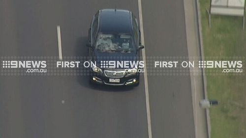 Police tracked the car by helicopter. (9NEWS)