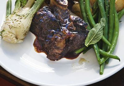 Braised beef short ribs, vincotto and rosemary