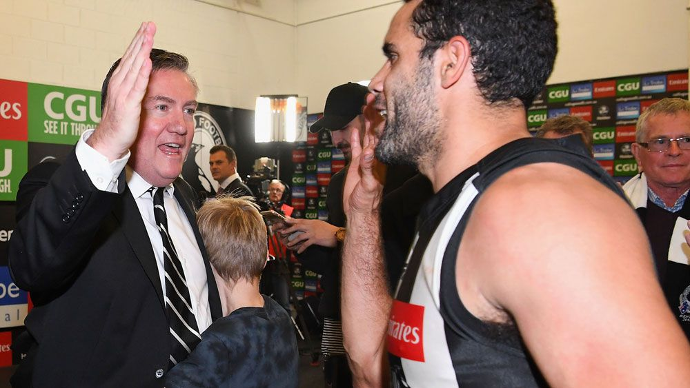 Collingwood president Eddie McGuire isn't going anywhere amid calls for him to stand down
