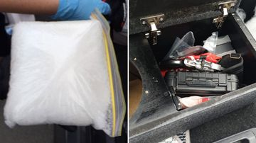 SA Police found drugs and guns during a routine traffic stop.