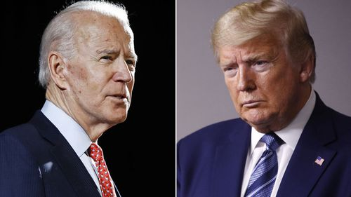 File photos former Vice President Joe Biden and President Donald Trump.