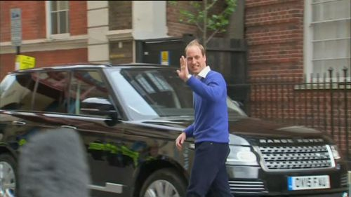 Prince William drove to Kensington Palace. (9NEWS)